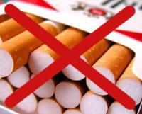 Cigaretter med kryss över