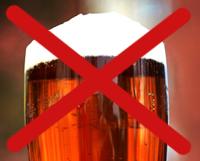 Bild på öl med kryss över